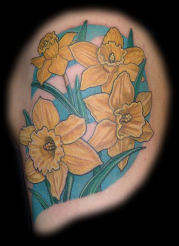 The Temptation News: daffodil tattoo pics